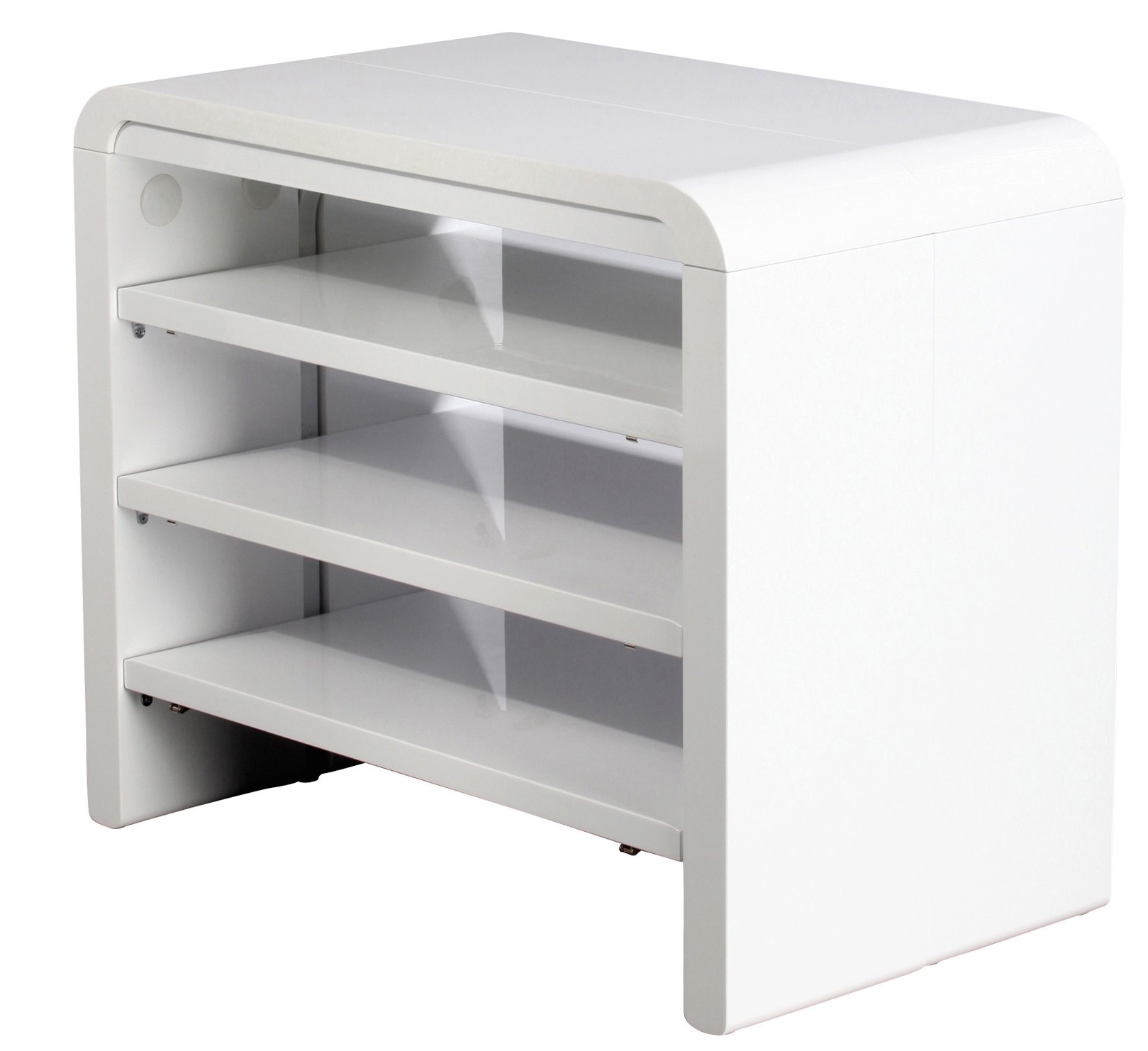Console extensible but modle prsent en bicouleur noyer et - Table console extensible blanc laque design ...