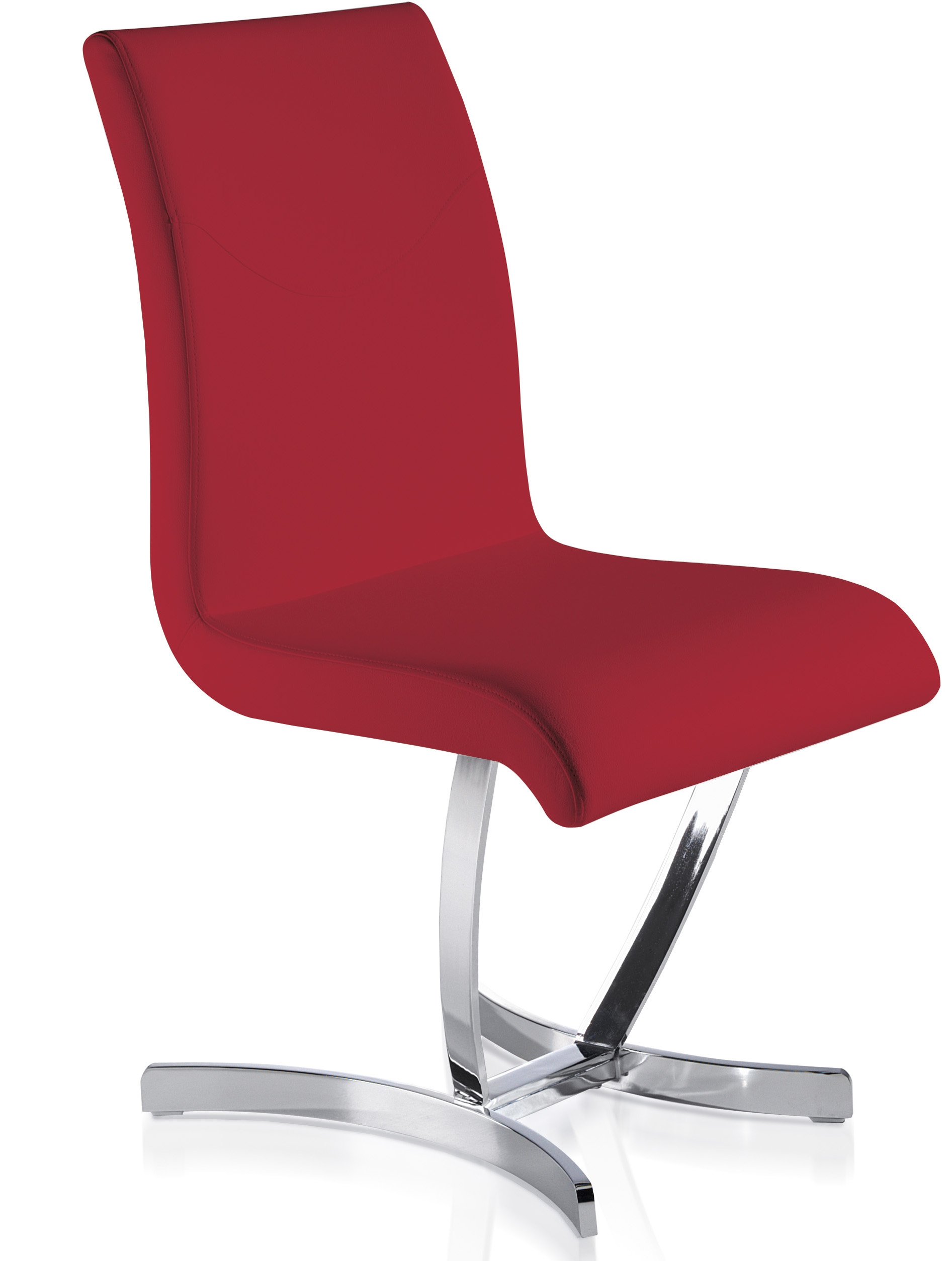 Chaise design rouge sipa - Chaise rouge design ...