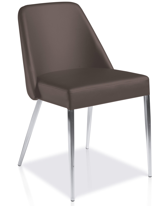 chaise design marron manga lot de 2. Black Bedroom Furniture Sets. Home Design Ideas