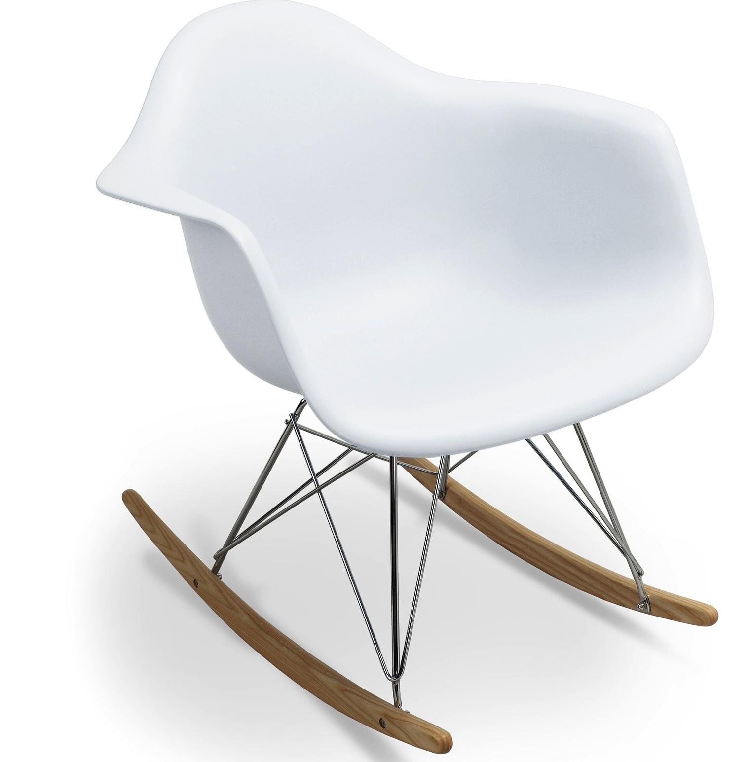 Fauteuil  bascule blanc mat inspirée Charles Eames LesTendances