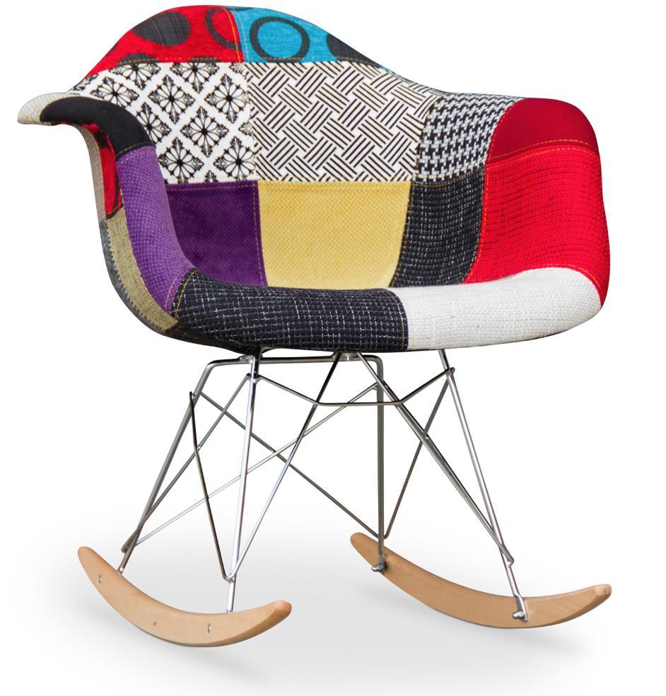 fauteuil bascule patchwork inspir e eero saarinen. Black Bedroom Furniture Sets. Home Design Ideas