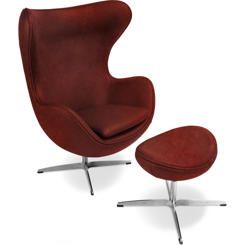 fauteuil avec repose pieds cuir bordeaux ego. Black Bedroom Furniture Sets. Home Design Ideas