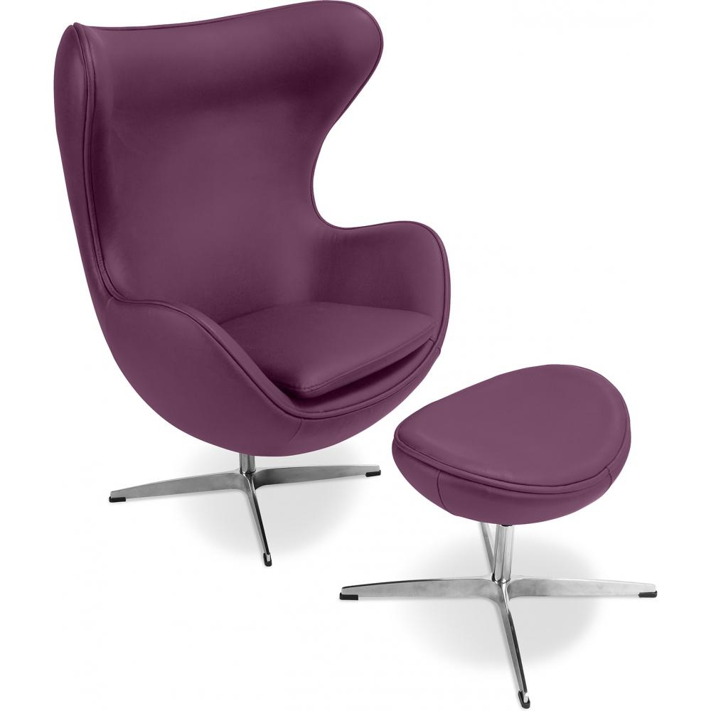 fauteuil avec repose pieds simili violet ego. Black Bedroom Furniture Sets. Home Design Ideas