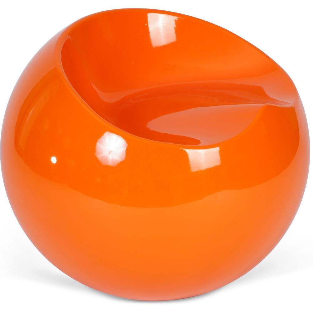 Fauteuil Boule Orange Brillant Inspiré Finn Stone LesTendancesfr - Fauteuil orange