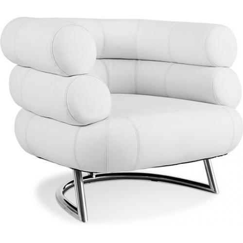fauteuil bibendum simili blanc inspir eileen gray. Black Bedroom Furniture Sets. Home Design Ideas