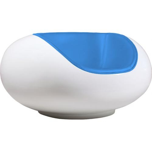 Fauteuil blanc fibre de verre simili bleu inspir president pastil lestenda - Fauteuil fibre de verre ...