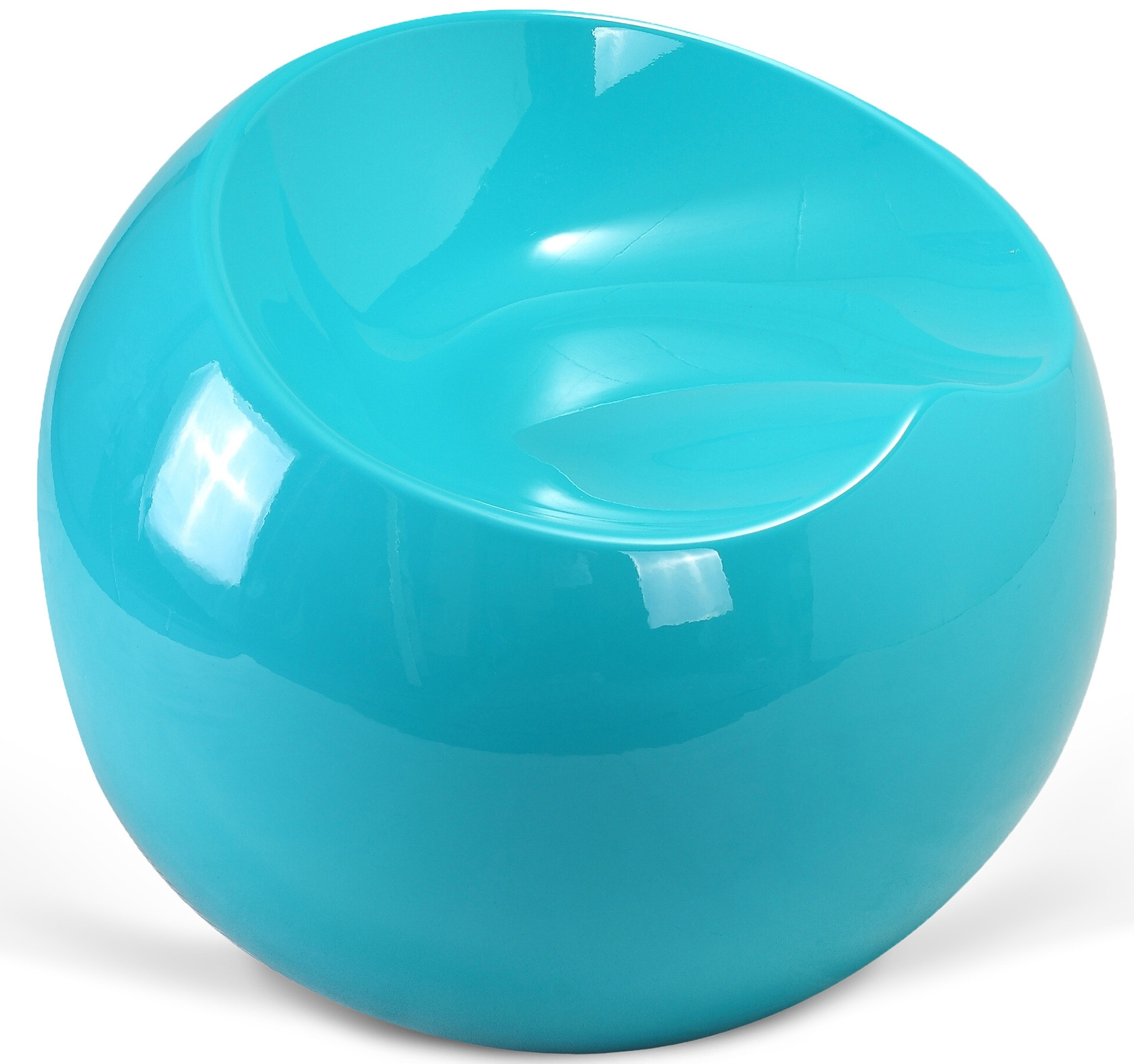 fauteuil boule turquoise brillant inspir finn stone. Black Bedroom Furniture Sets. Home Design Ideas