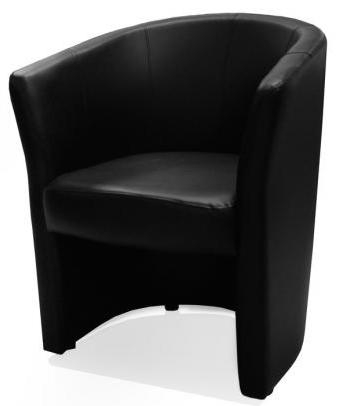 fauteuil cabriolet noir balto. Black Bedroom Furniture Sets. Home Design Ideas