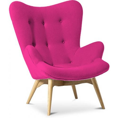 fauteuil tissu cachemire fuchsia campeur. Black Bedroom Furniture Sets. Home Design Ideas