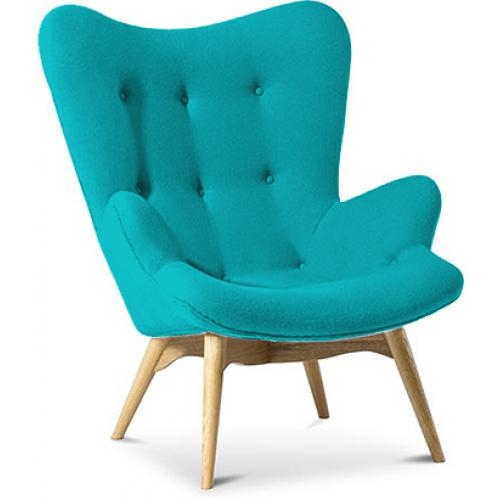 fauteuil cachemire turquoise inspir grant featherston. Black Bedroom Furniture Sets. Home Design Ideas