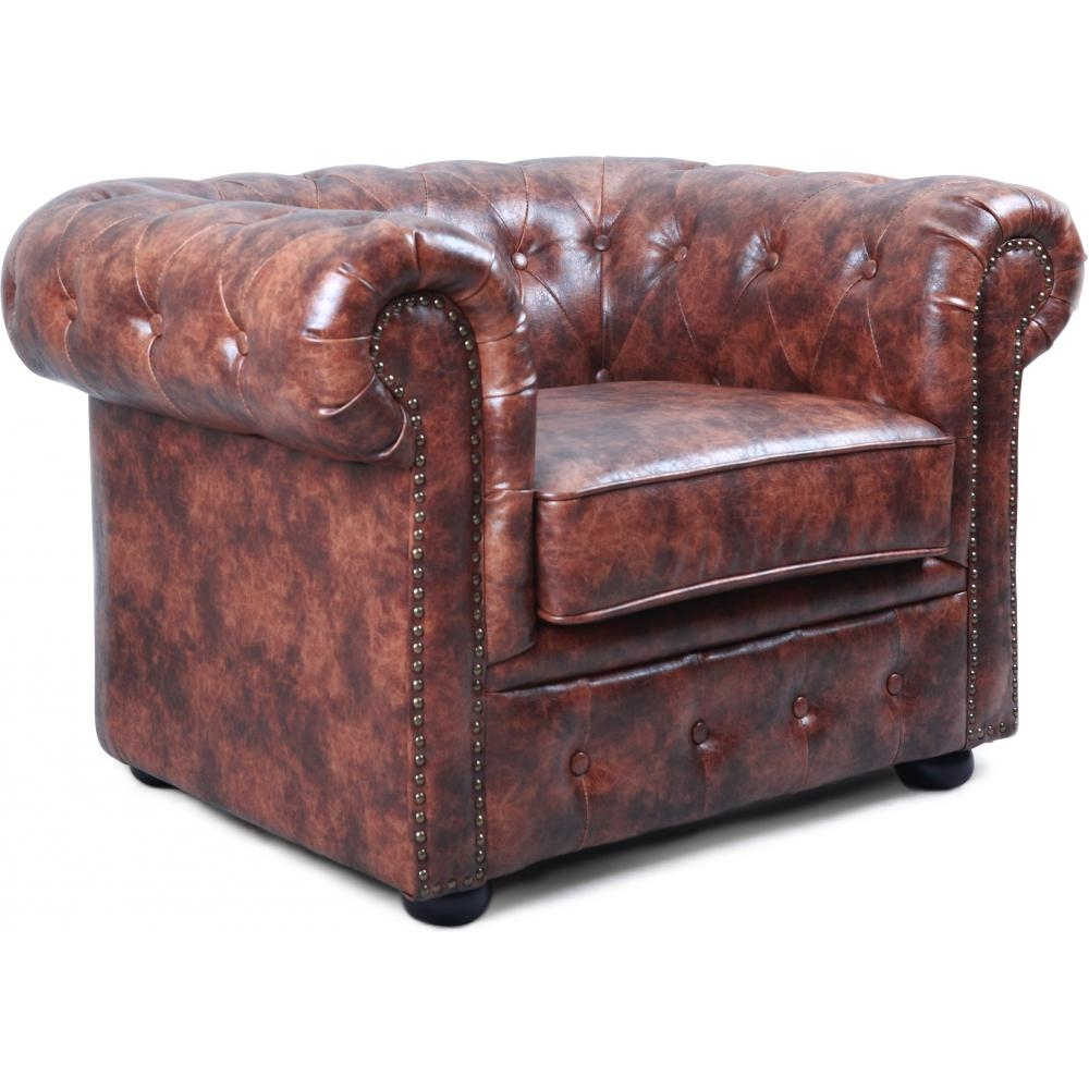 fauteuil chesterfield vintage cuir cognac. Black Bedroom Furniture Sets. Home Design Ideas