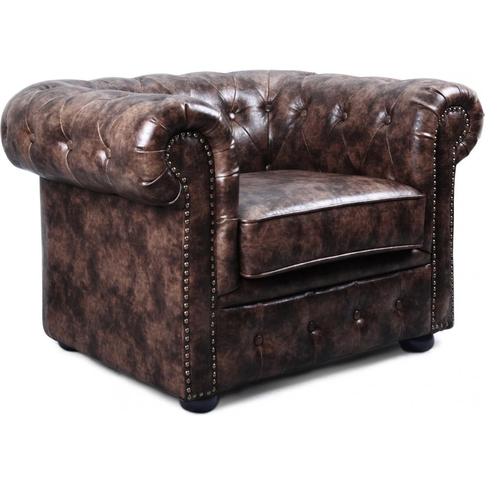 fauteuil chesterfield cuir chocolat vintage. Black Bedroom Furniture Sets. Home Design Ideas