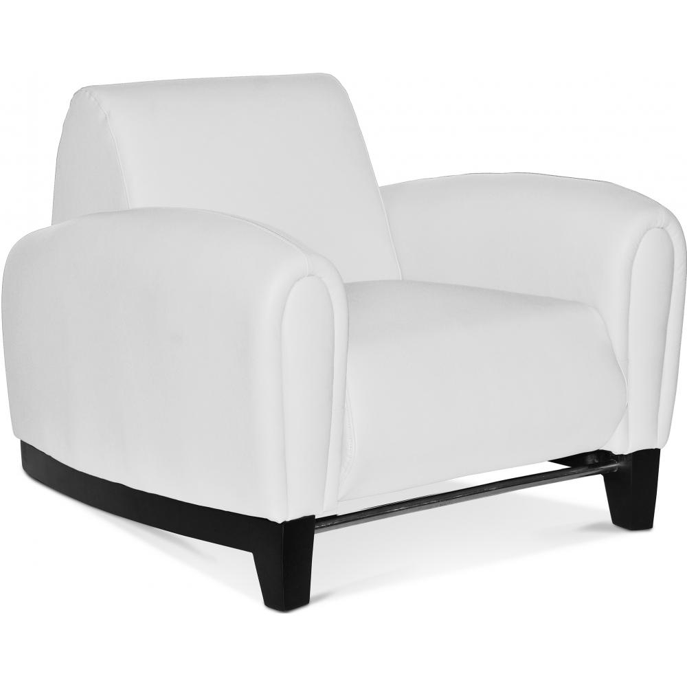 fauteuil cuir blanc design maison design. Black Bedroom Furniture Sets. Home Design Ideas