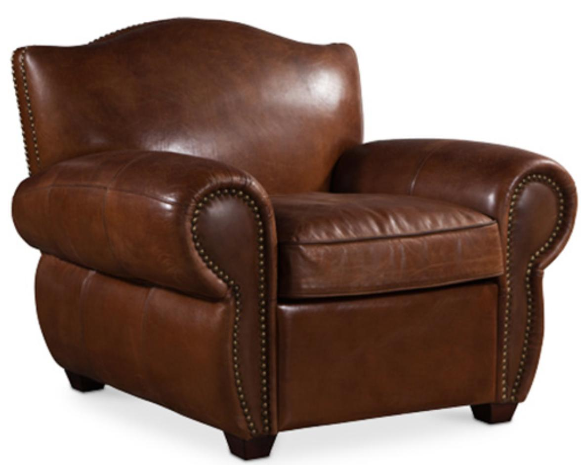 fauteuil cuir brun vintage klane. Black Bedroom Furniture Sets. Home Design Ideas