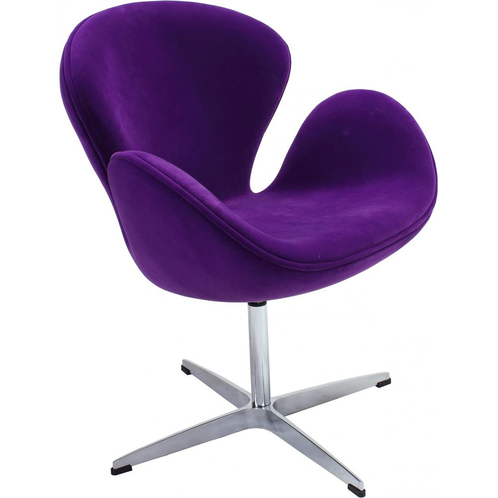 fauteuil cygne tissu violet inspir arne jacobsen. Black Bedroom Furniture Sets. Home Design Ideas