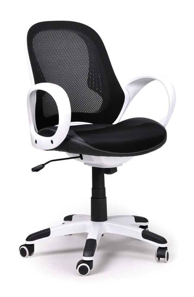 Fauteuil de bureau moderne blanc et noir monti for Bureau moderne blanc
