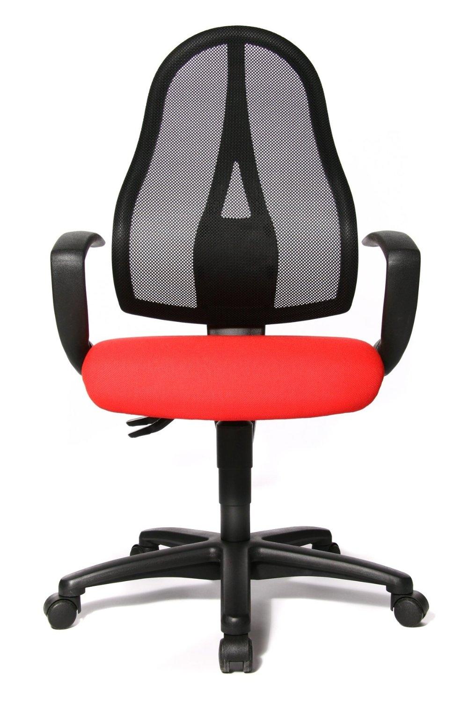 Fauteuil de bureau rouge open point p - Fauteuil bureau rouge ...