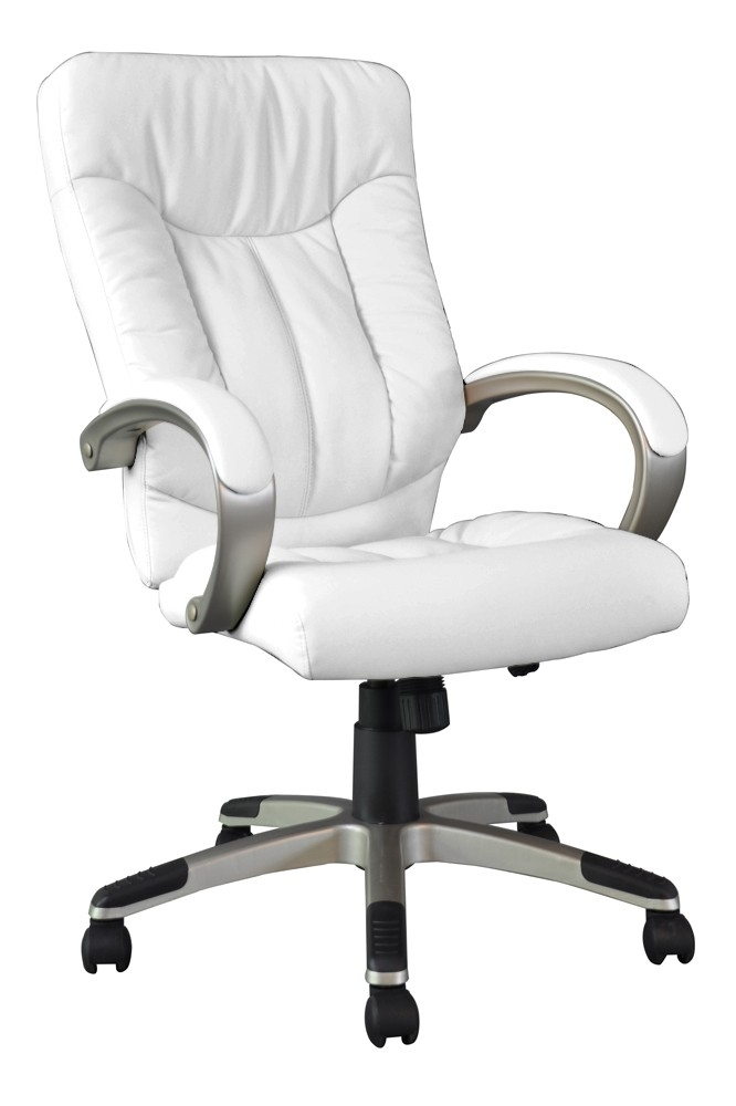 fauteuil de bureau simili blanc manager. Black Bedroom Furniture Sets. Home Design Ideas