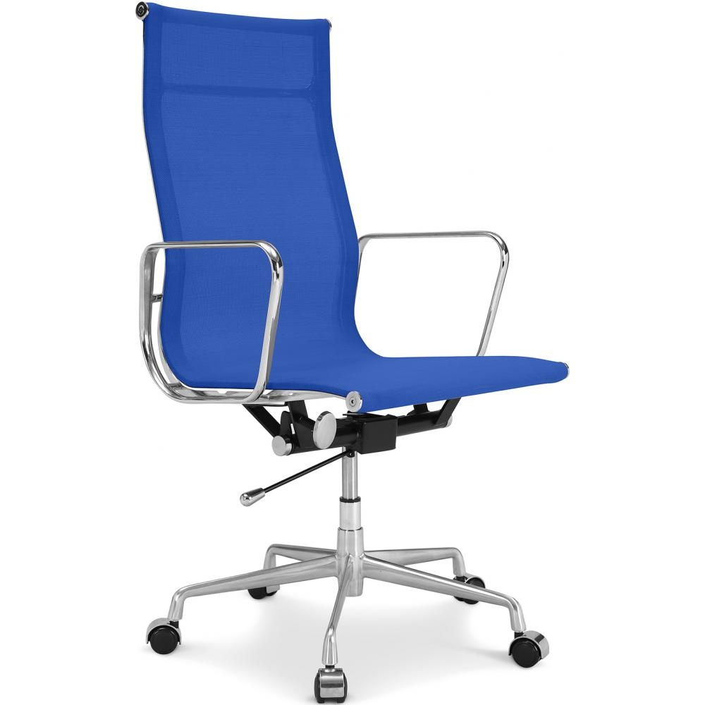 fauteuil de bureau tissu bleu fonc nose. Black Bedroom Furniture Sets. Home Design Ideas