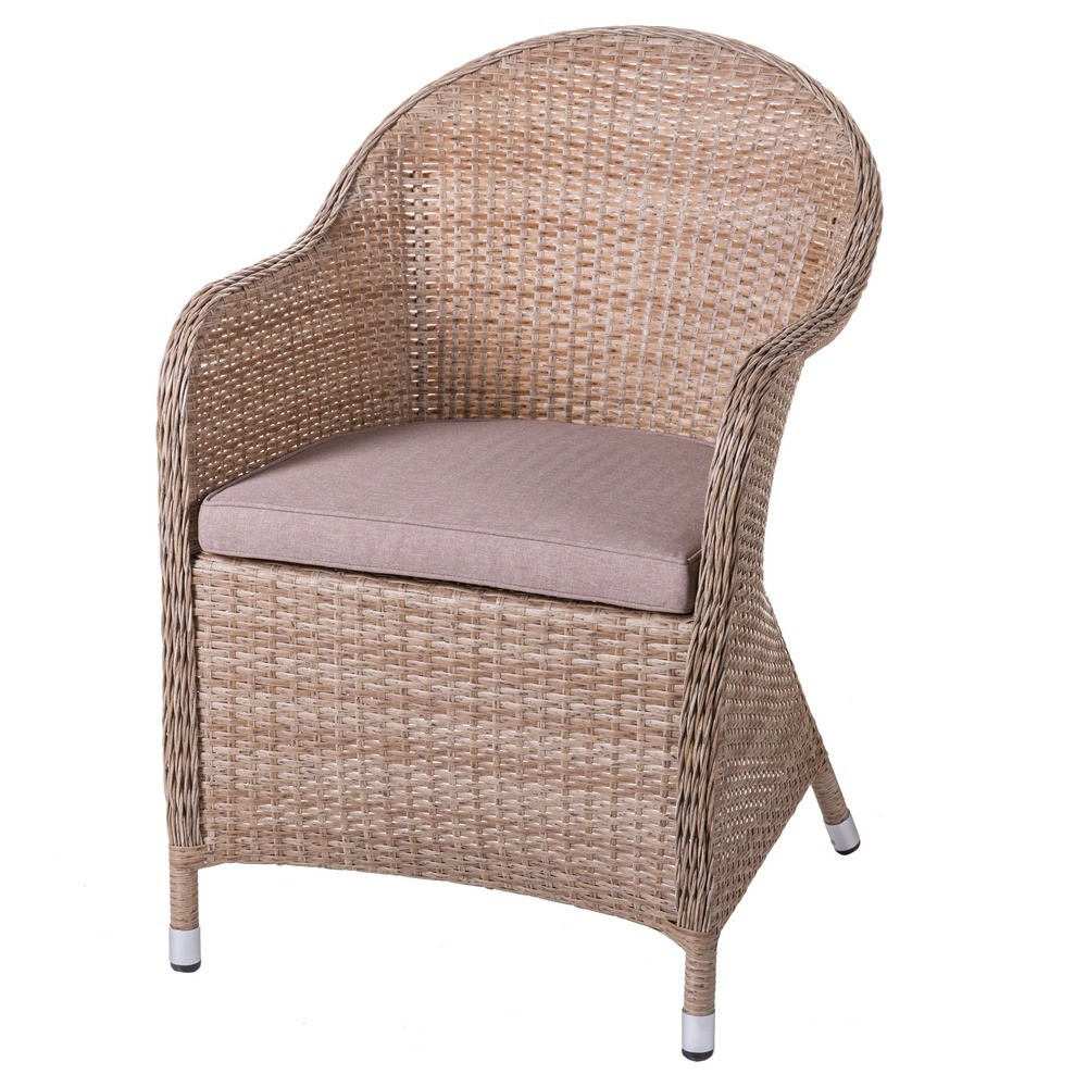 fauteuil de jardin rotin clair exo. Black Bedroom Furniture Sets. Home Design Ideas
