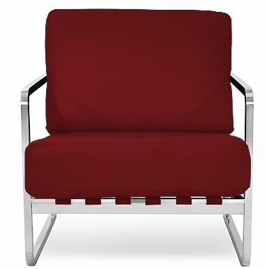 fauteuil design cuir bordeaux inspir zurigo. Black Bedroom Furniture Sets. Home Design Ideas