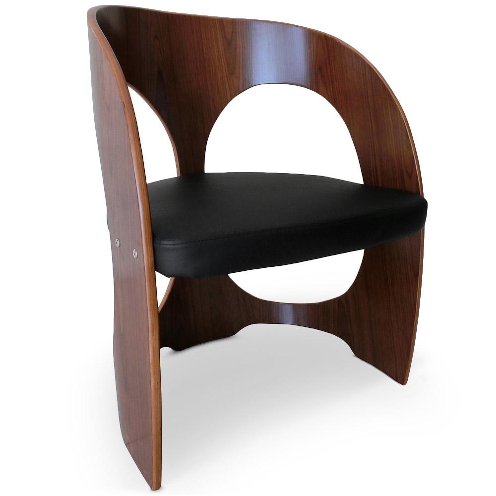 fauteuil design bois noisette et noir. Black Bedroom Furniture Sets. Home Design Ideas