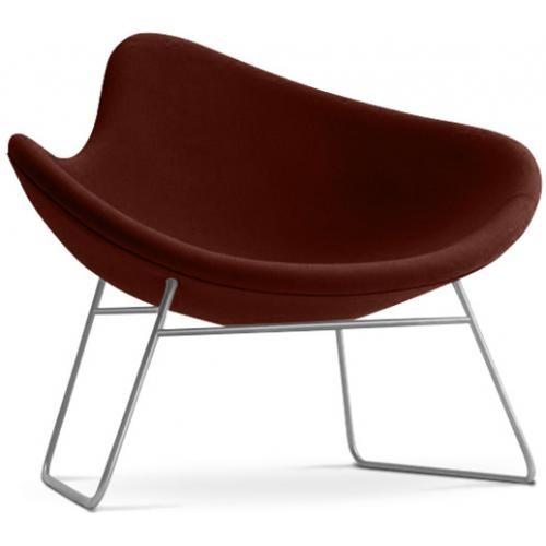 fauteuil fibre de verre assise cachemire chocolat inspir. Black Bedroom Furniture Sets. Home Design Ideas