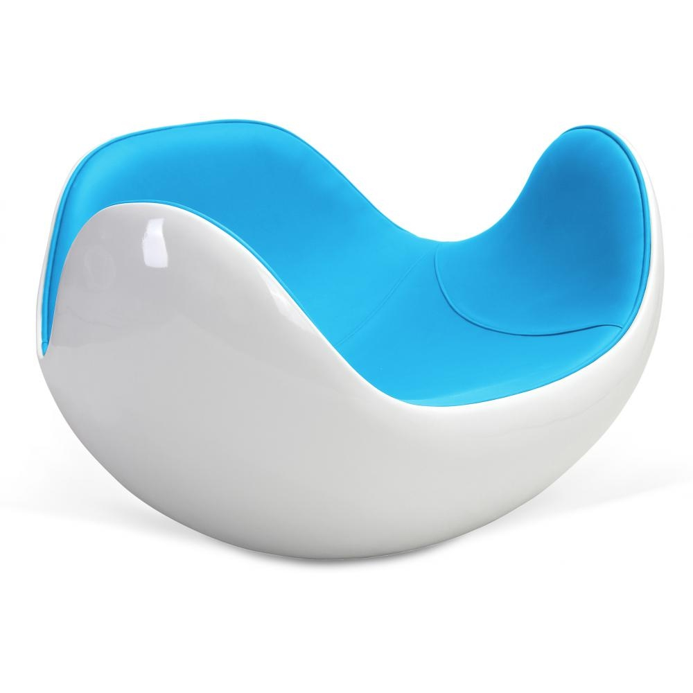 fauteuil fibre de verre blanc int rieur simili bleu ciel. Black Bedroom Furniture Sets. Home Design Ideas