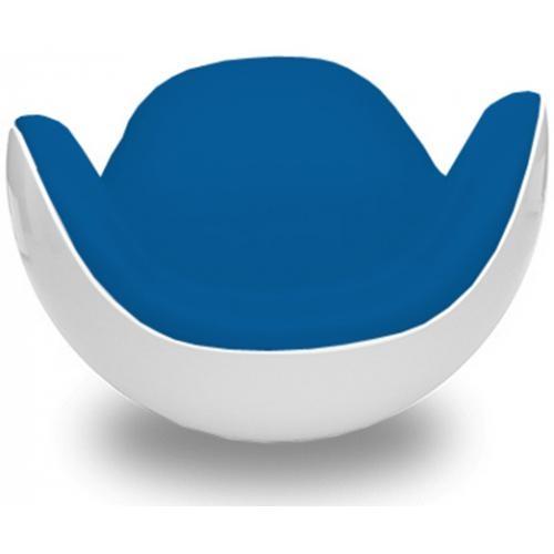 fauteuil fibre de verre blanc int rieur tissu bleu lounge. Black Bedroom Furniture Sets. Home Design Ideas