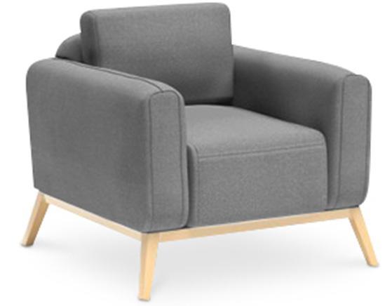 fauteuil gris clair scandinave klein. Black Bedroom Furniture Sets. Home Design Ideas