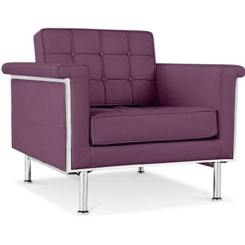 fauteuil matelass simili violet inspir ludwig mies van der rohe. Black Bedroom Furniture Sets. Home Design Ideas