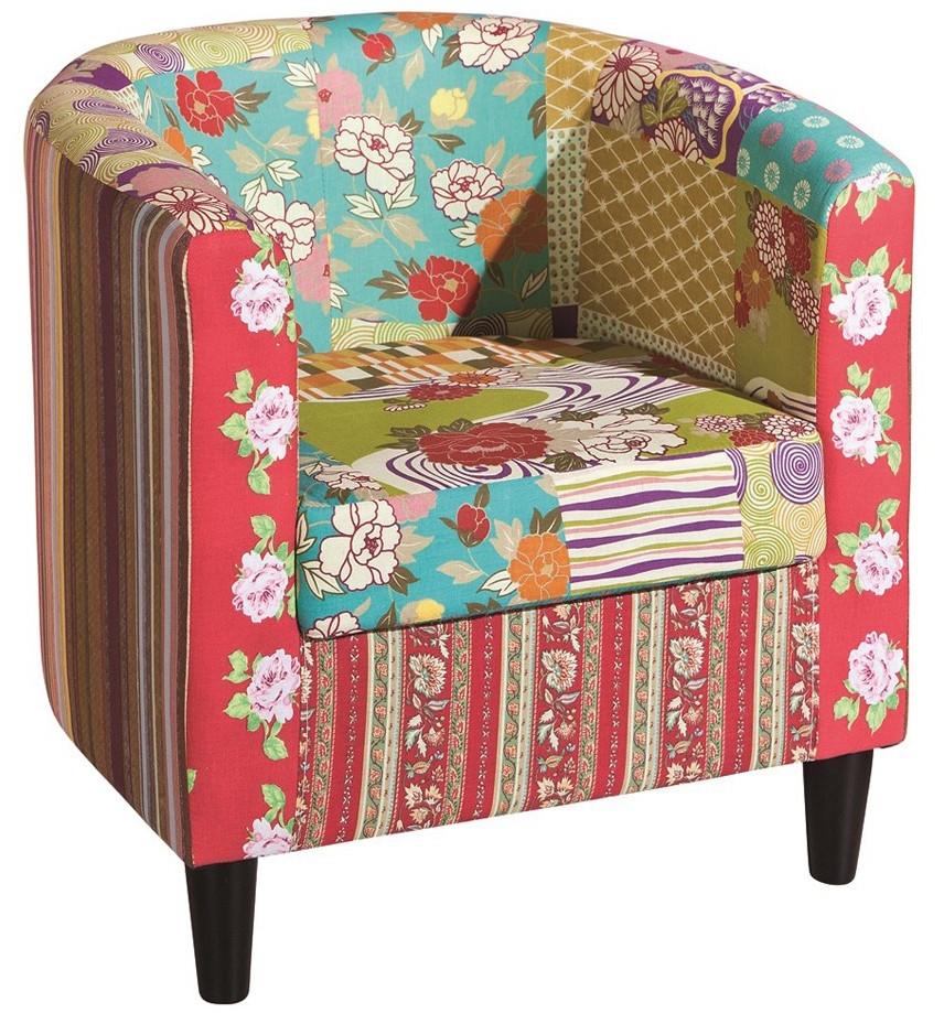 fauteuil multicolore cabrio. Black Bedroom Furniture Sets. Home Design Ideas