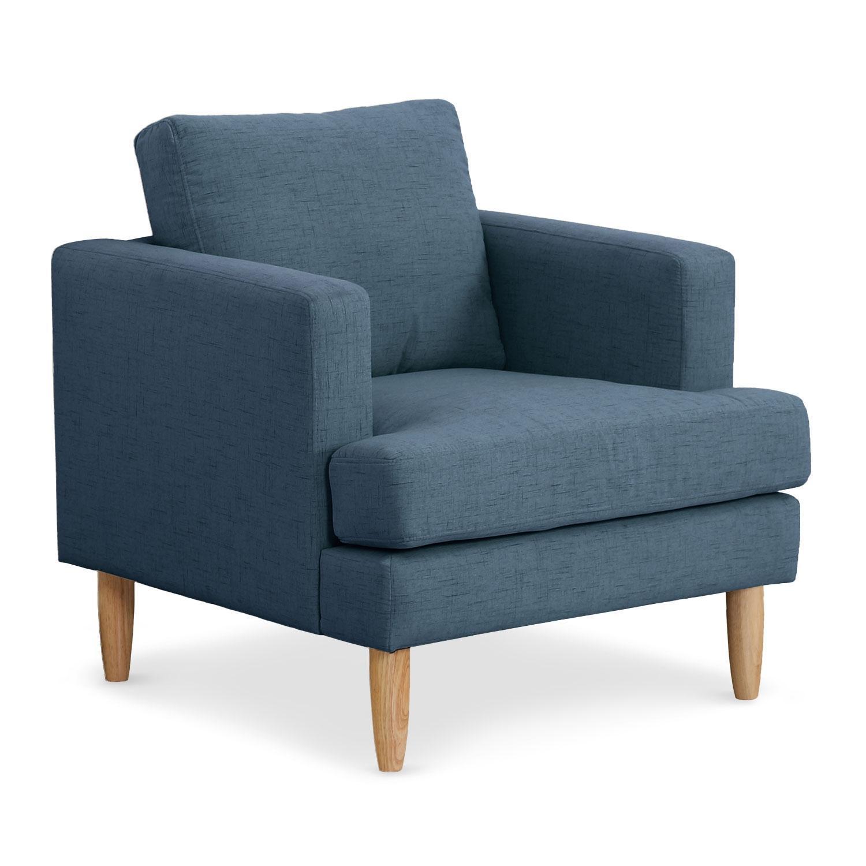 fauteuil relax tissu bleu sueda. Black Bedroom Furniture Sets. Home Design Ideas