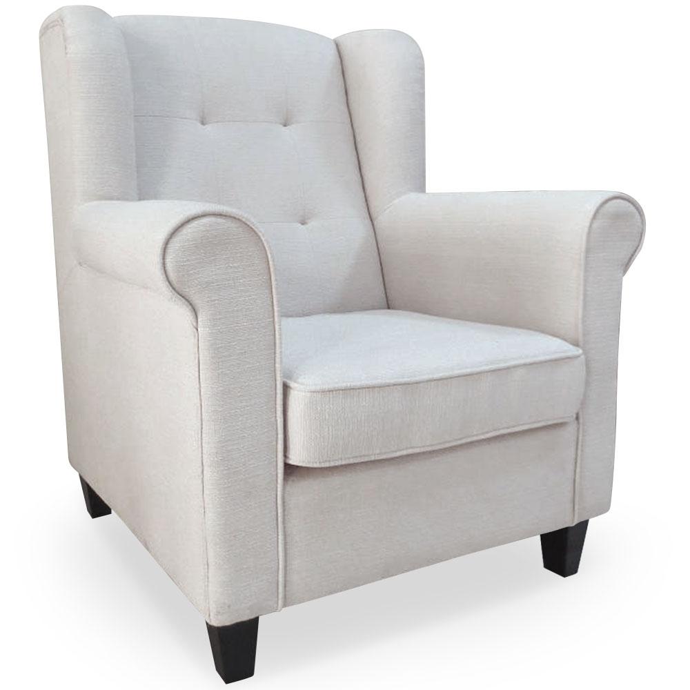 fauteuil tissu beige bergre lestendancesfr - Fauteuil En Tissu