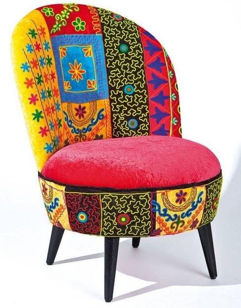 fauteuil patchwork vera cruz. Black Bedroom Furniture Sets. Home Design Ideas