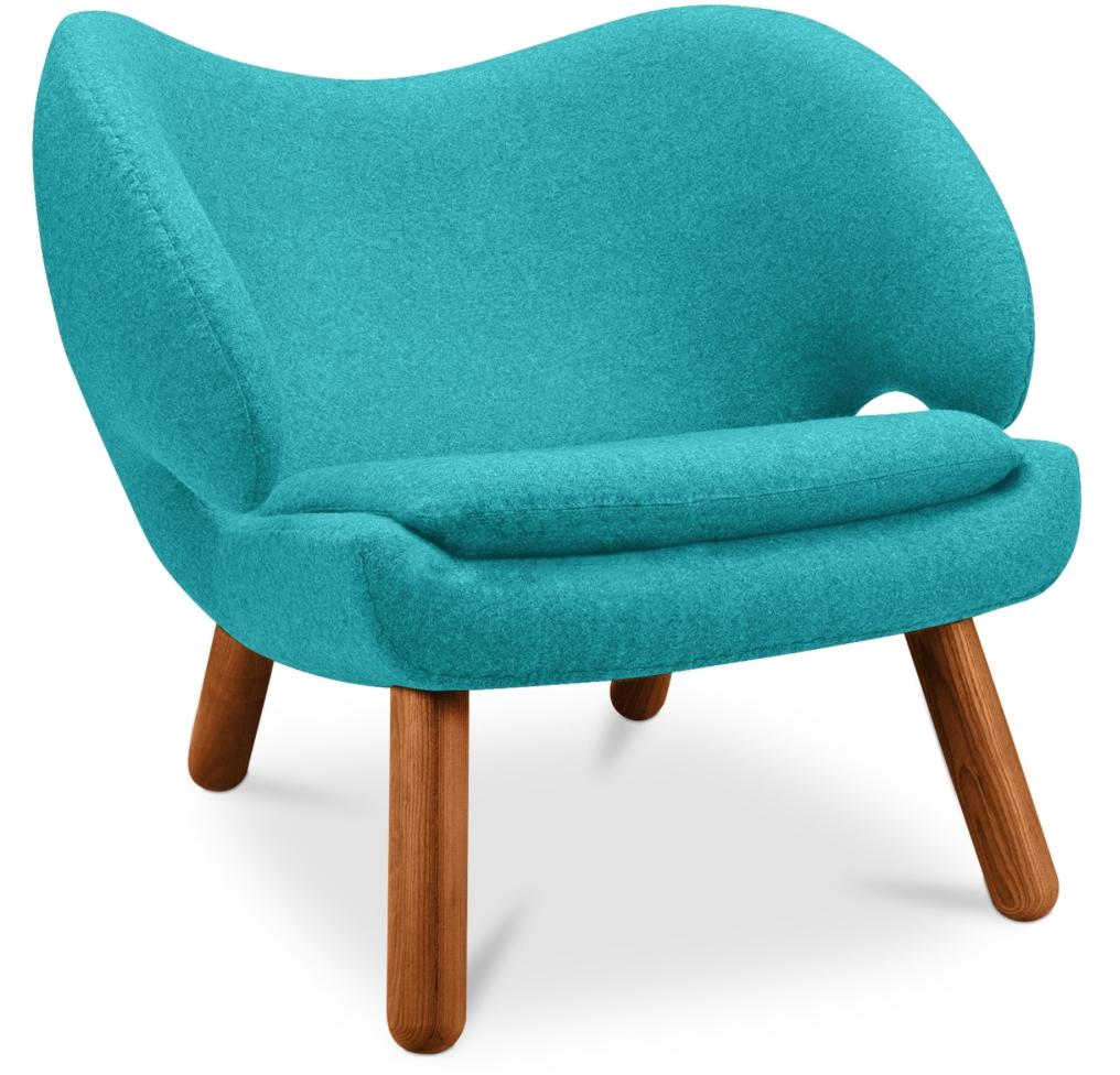 fauteuil contemporain tissu turquoise kely inspir p lican. Black Bedroom Furniture Sets. Home Design Ideas