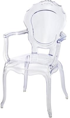 Fauteuil polycarbonate transparent style louis xiv - Fauteuil polycarbonate transparent ...