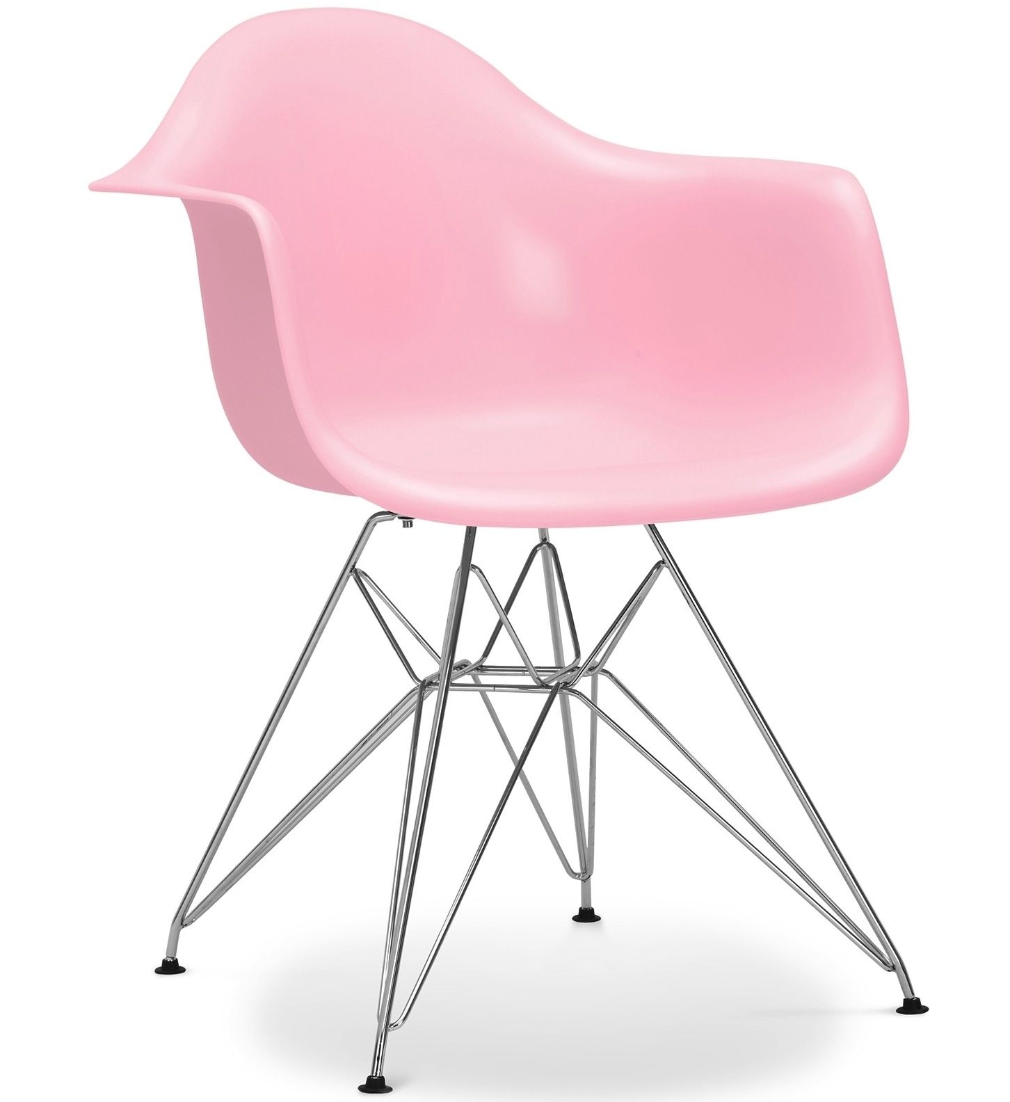 fauteuil polypropyl ne rose inspir e eiffel charles eames. Black Bedroom Furniture Sets. Home Design Ideas