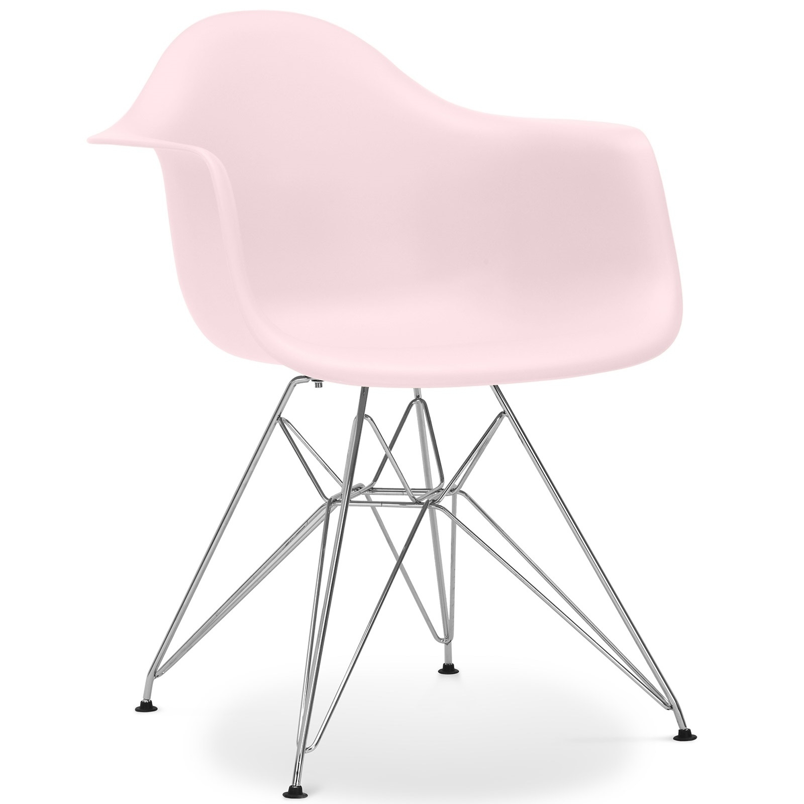 fauteuil polypropyl ne rose pastel inspir e eiffel charles eames. Black Bedroom Furniture Sets. Home Design Ideas