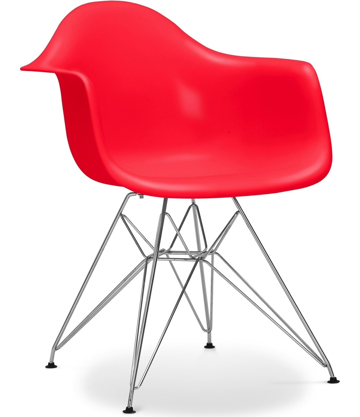 Fauteuil polypropyl ne rouge inspir e eiffel charles eames for Achat fauteuil charles eames
