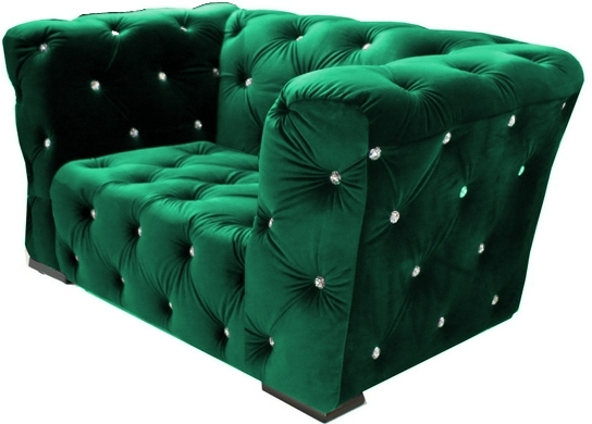 fauteuil velours vert royal chesterfield. Black Bedroom Furniture Sets. Home Design Ideas