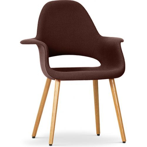 fauteuil scandinave assise tissu marron inspir aeero. Black Bedroom Furniture Sets. Home Design Ideas