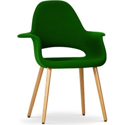 fauteuil scandinave assise tissu vert fonc inspir aeero. Black Bedroom Furniture Sets. Home Design Ideas