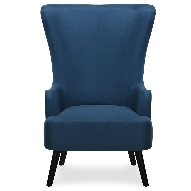 fauteuil haut scandinave tissu bleu charles. Black Bedroom Furniture Sets. Home Design Ideas