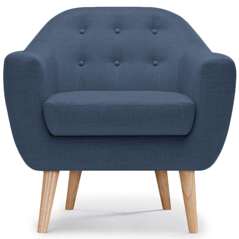 fauteuil scandinave bleu kindy. Black Bedroom Furniture Sets. Home Design Ideas