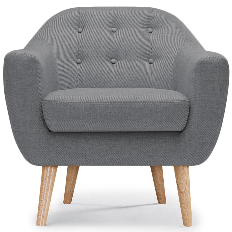 fauteuil scandinave gris kindy. Black Bedroom Furniture Sets. Home Design Ideas