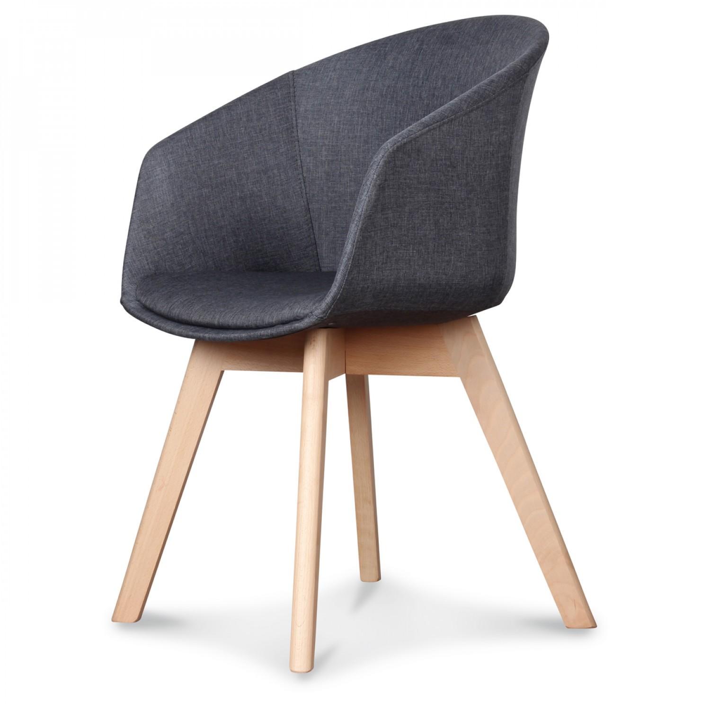 fauteuil design scandinave gris anthracite keno lot de 2. Black Bedroom Furniture Sets. Home Design Ideas