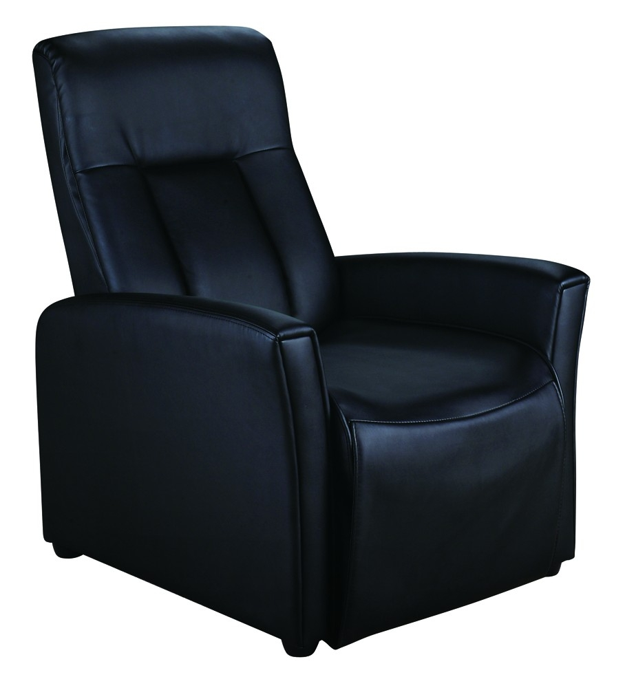 fauteuil relax simili cuir noir relaxo. Black Bedroom Furniture Sets. Home Design Ideas