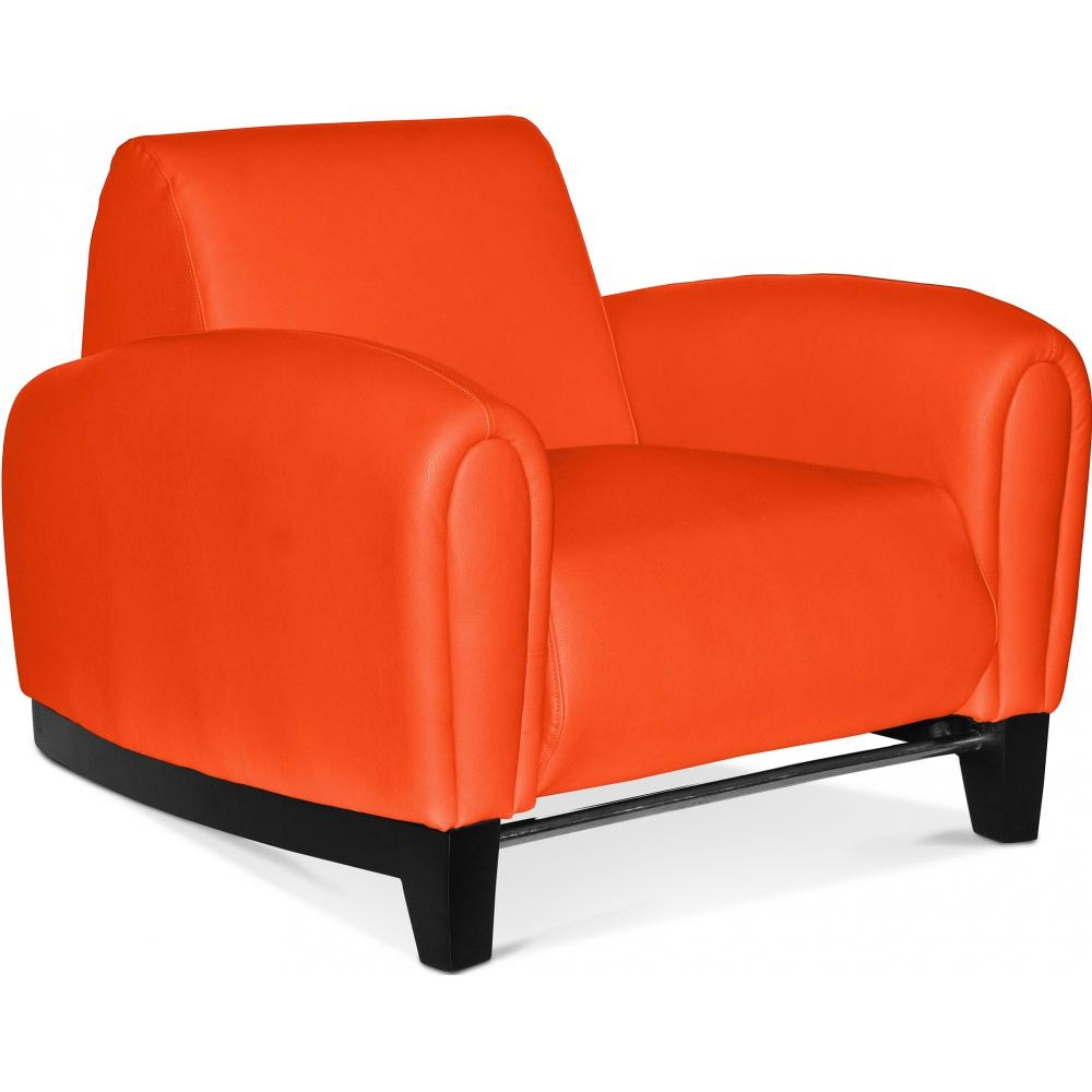 fauteuil simili orange bugatti. Black Bedroom Furniture Sets. Home Design Ideas
