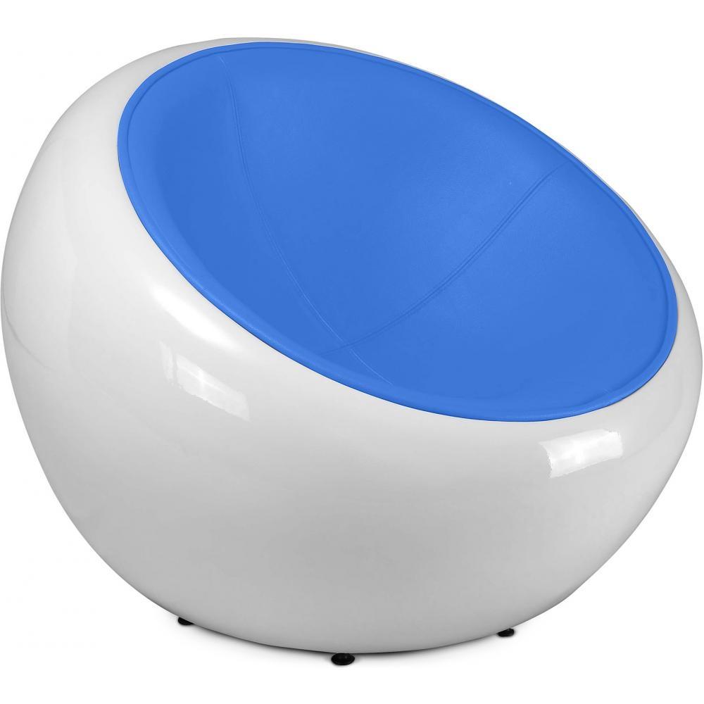 fauteuil style egg pod ball chair assise simili cuir couleur noir. Black Bedroom Furniture Sets. Home Design Ideas
